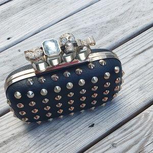 Handbags - Studded Skull clutch